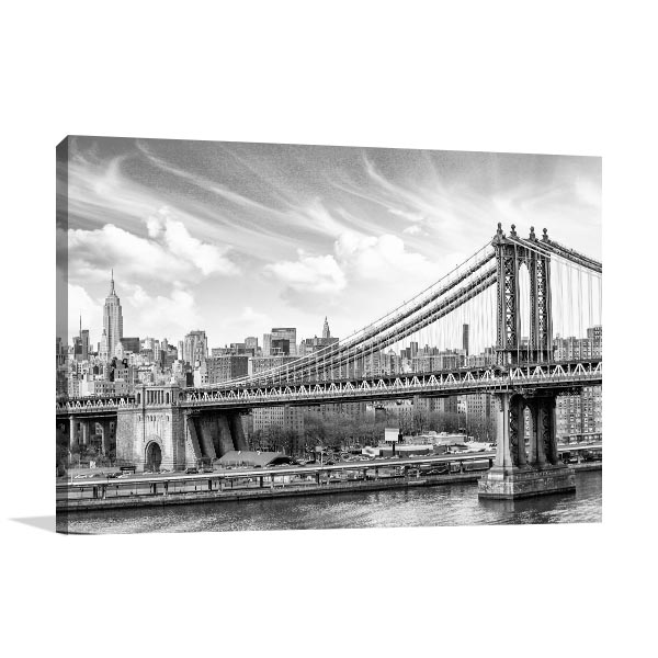 Manhattan Cloudy Sky Art Prints