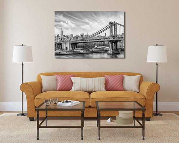 Manhattan Cloudy Sky Canvas Prints