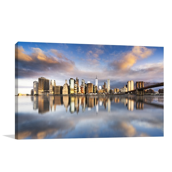 Manhattan Sunrise Canvas Art