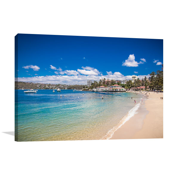 Manly Beach Art Print People Relaxing