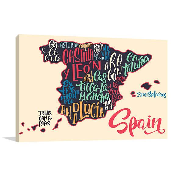 Map Of Spain Art Prints