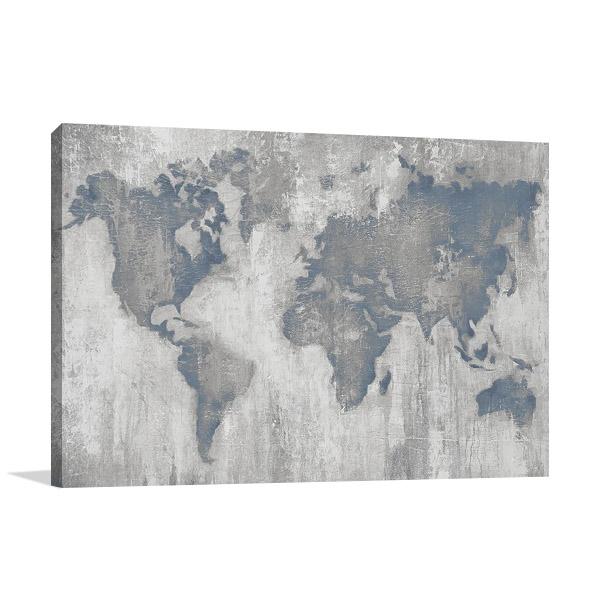 Map of the World Art | Liz Jardine