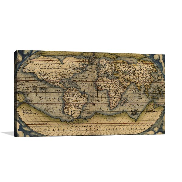 Map Ortelius Canvas Prints