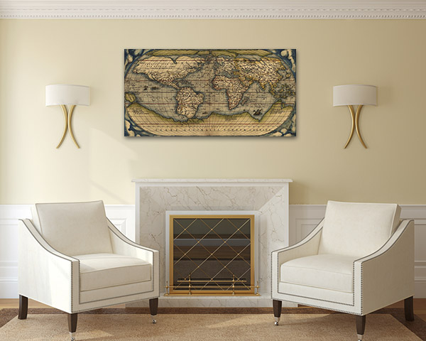 Map Ortelius Print Artwork