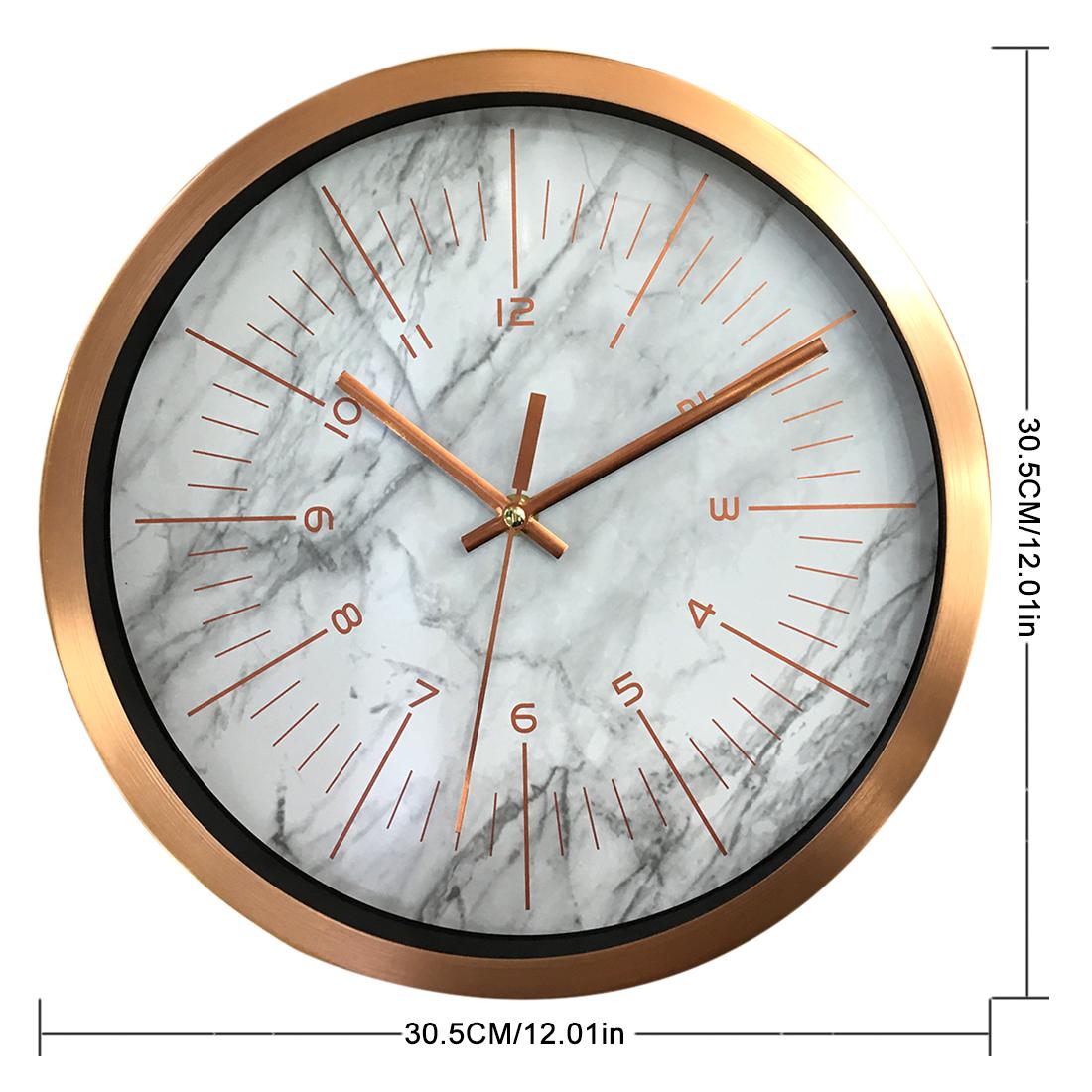 Online Wall Decor Marble Pattern Scandi Clock Brisbane