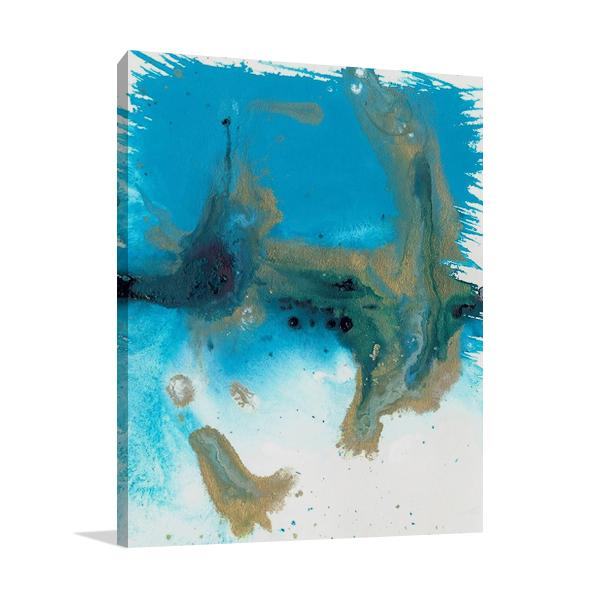 Marbling Blue Blown Wall Art Print