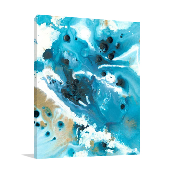 Marbling Blue Water Wall Art Print