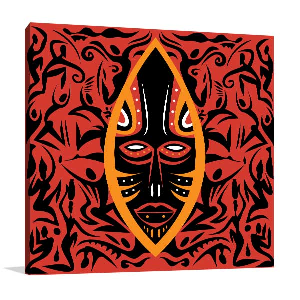 Mask Africa Wall Art