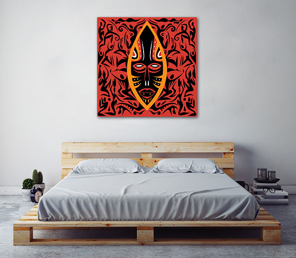Mask Africa Canvas Prints