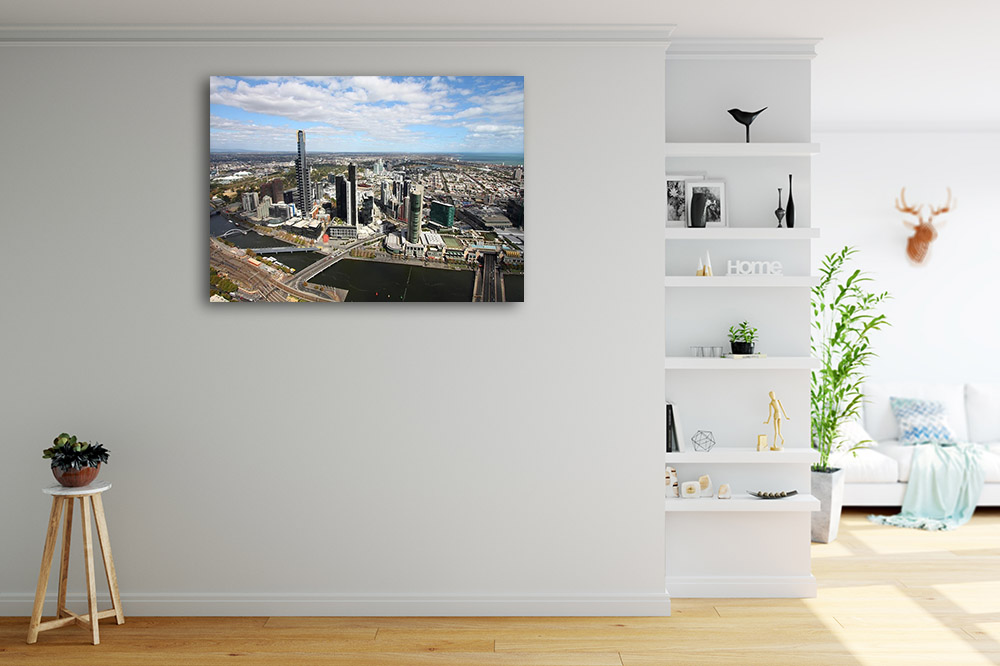 Aerial View Photography Canvas Print