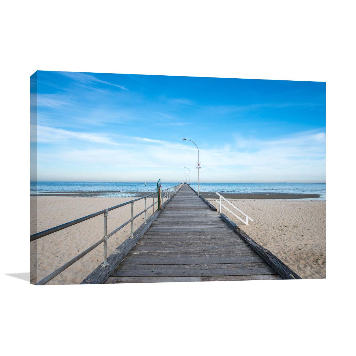 Melbourne Art Print Altona Beach Scener