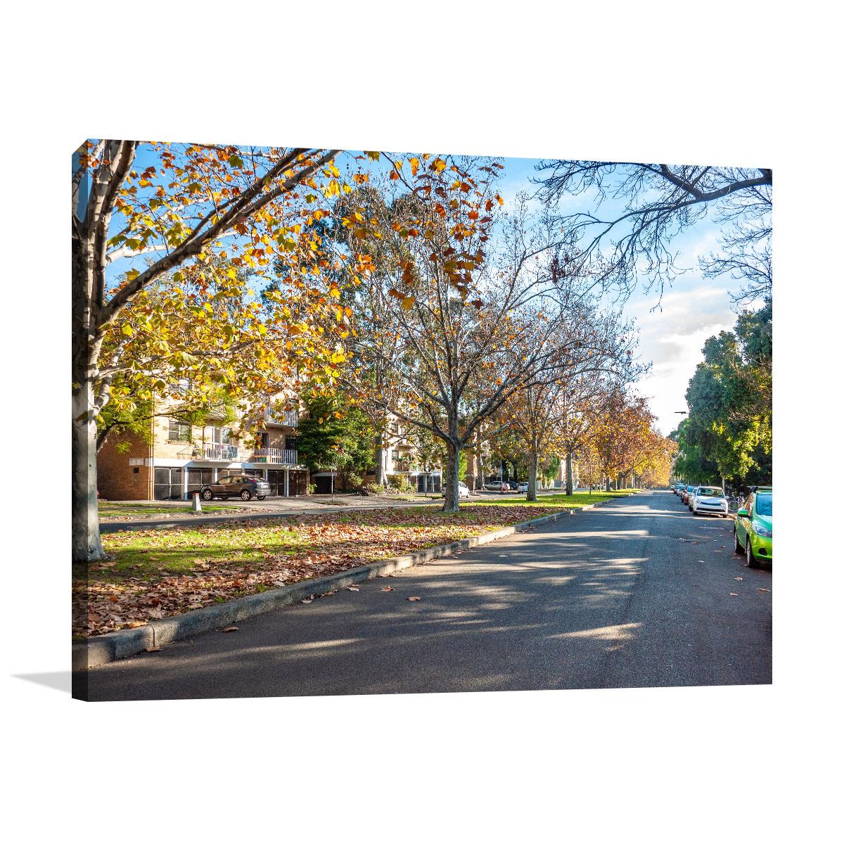 Melbourne Art Print Autumn Trees Suburb