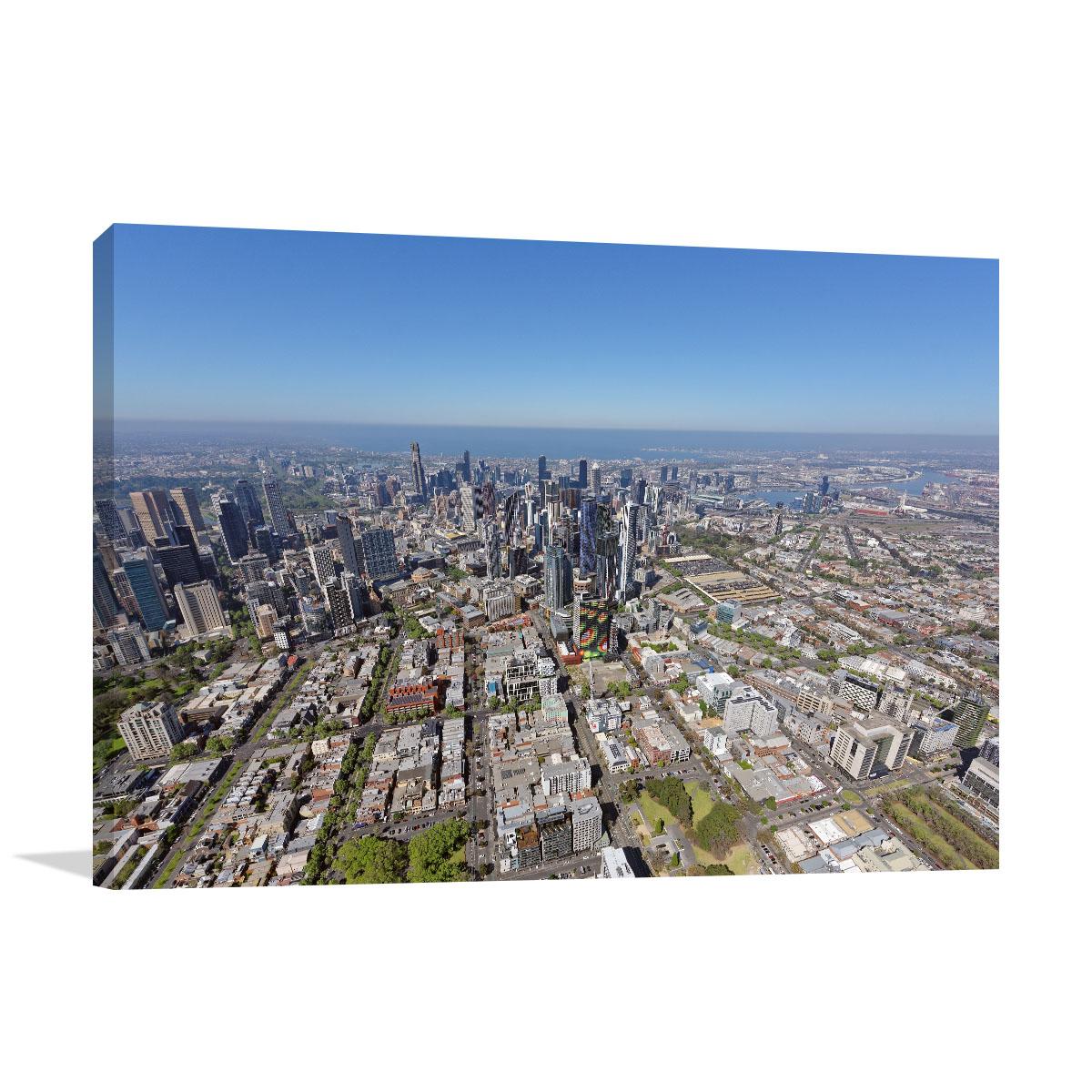 Melbourne Art Print Carlton View