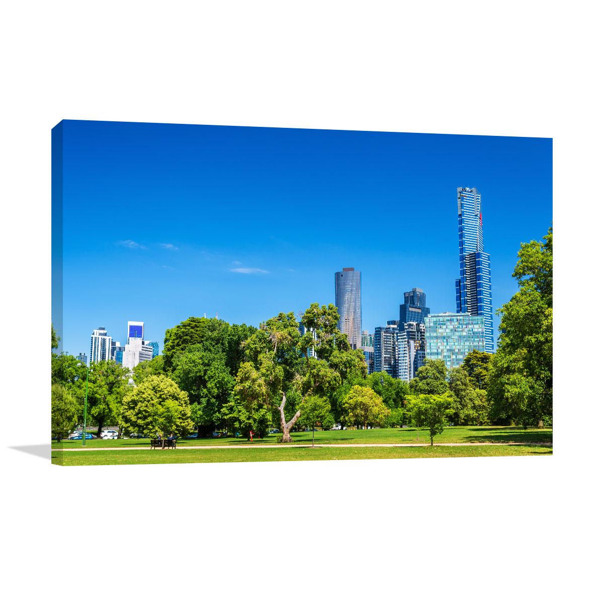 Melbourne Art Print Cityscape Kings Domain