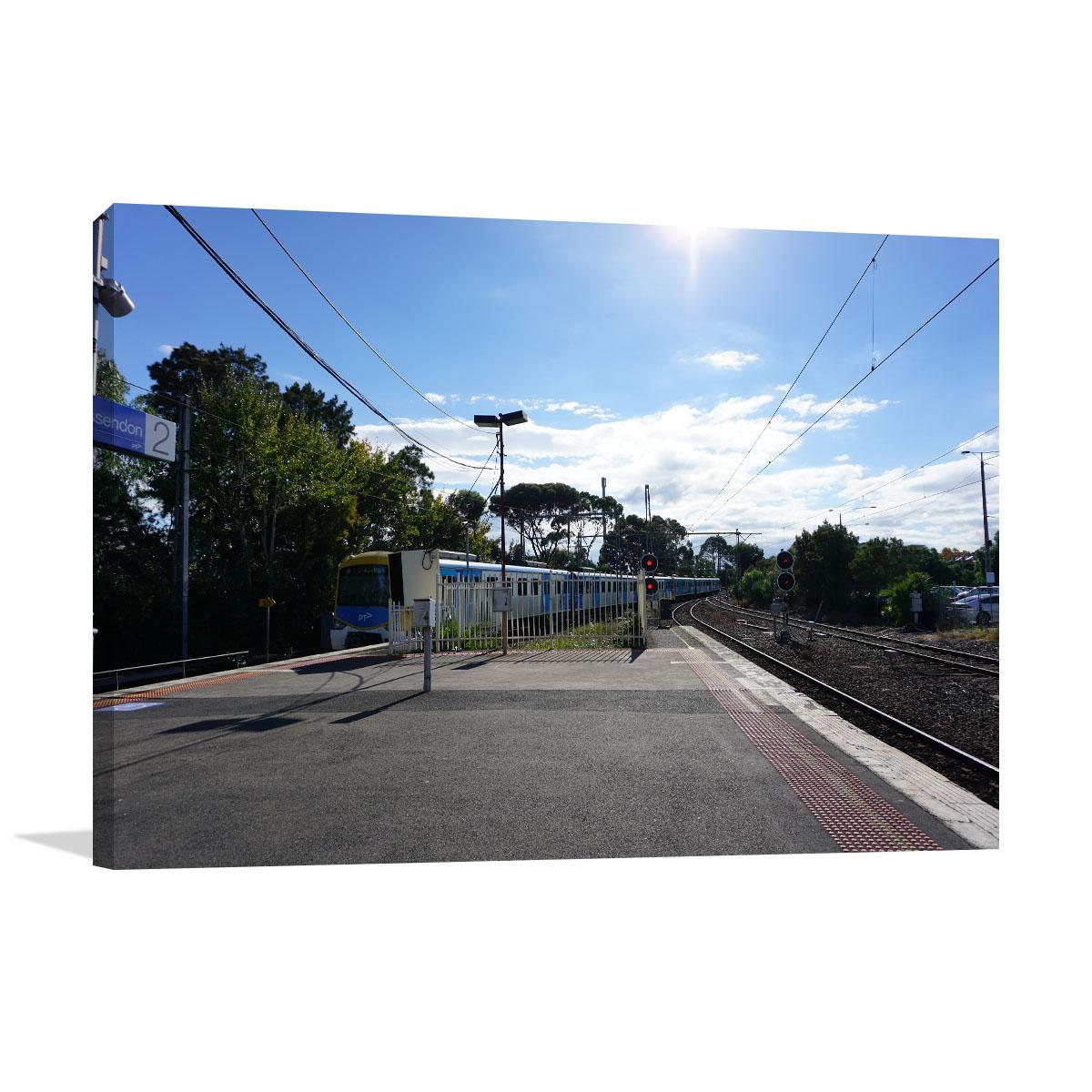 Melbourne Art Print Essendon Station