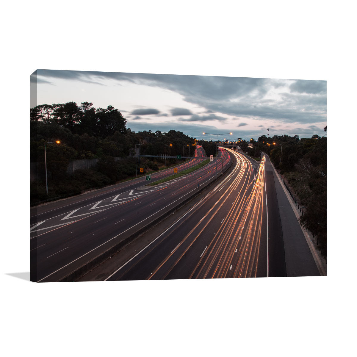 Melbourne Art Print Freeway in Dusk