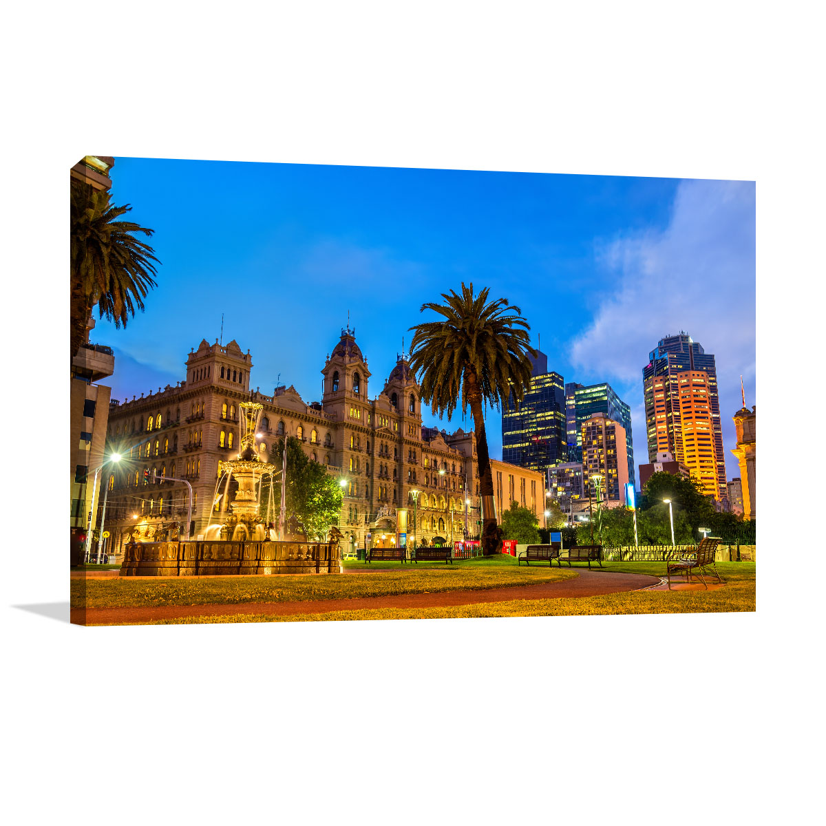 Melbourne Art Print Garden at Parliament House
