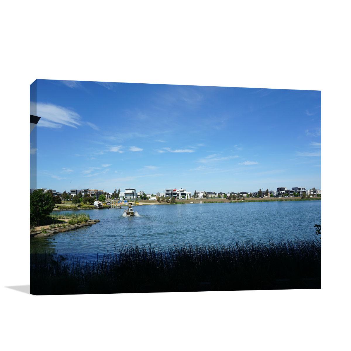 Melbourne Art Print Lake at Caroline Springs