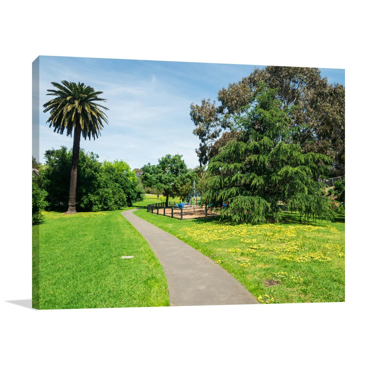 Melbourne Art Print Morang Road Reserve