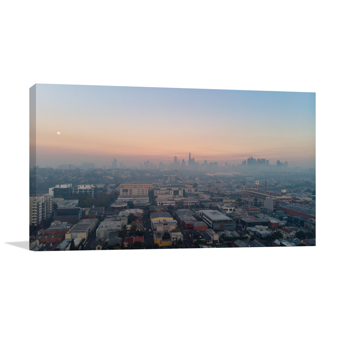 Melbourne Art Print Smoky Sunrise City