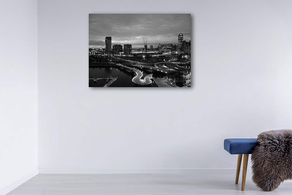 Melbourne Print | Black and White