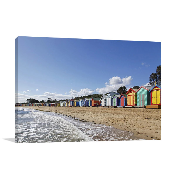Melbourne Beach Wall Print Canvas