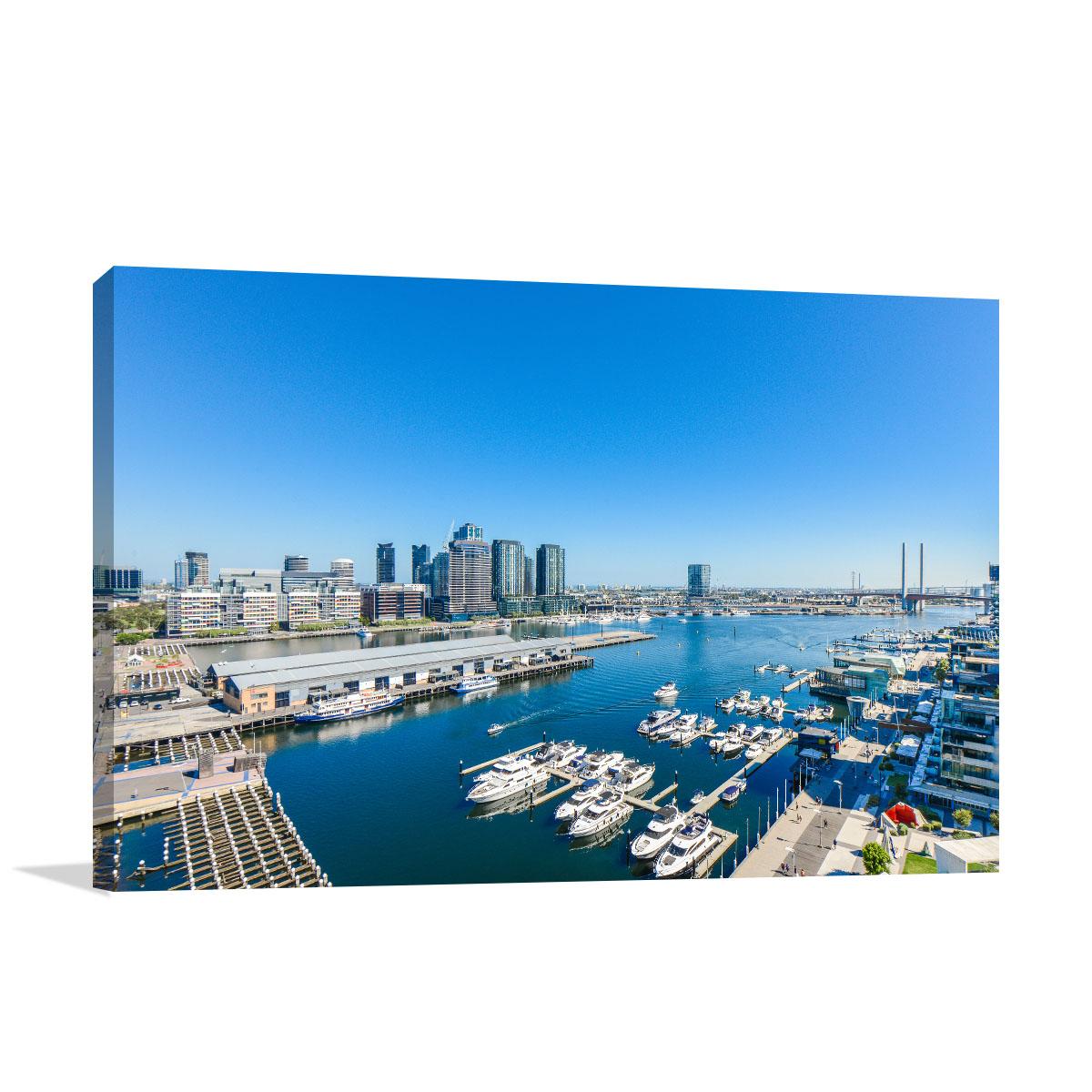 Melbourne Canvas Art Print Docklands Skyline