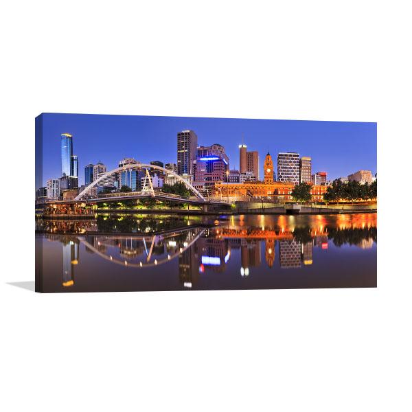Melbourne CBD Cityline Canvas Art Prints