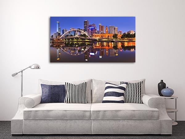 Melbourne CBD Cityline Canvas Prints