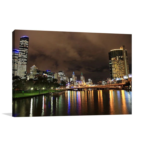 Melbourne City Buildings Wall Print