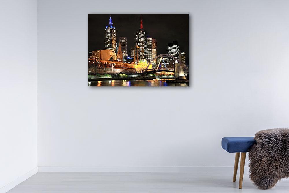 Night City Photography Canvas Print