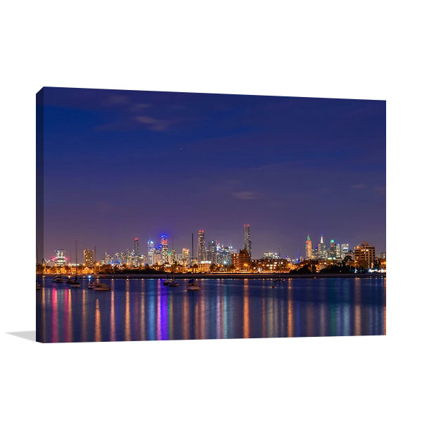 Melbourne City Skyscrapers Print on Canvas