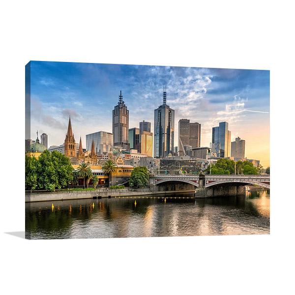Australia Melbourne Cityscape Print