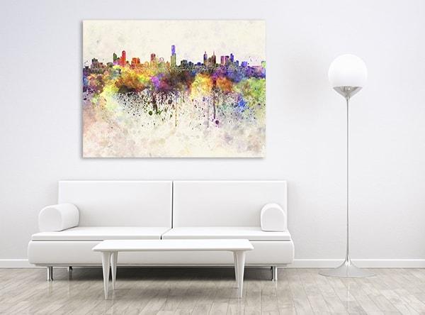 Melbourne Skyline Canvas Artwork
