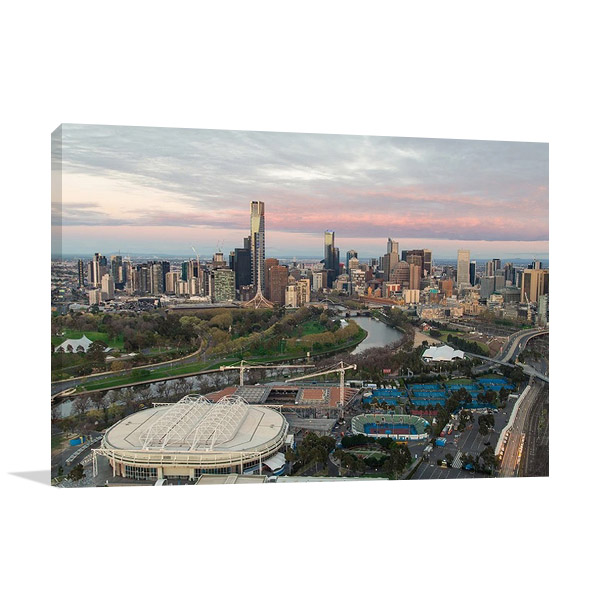 Melbourne Sporting Precinct Canvas Print