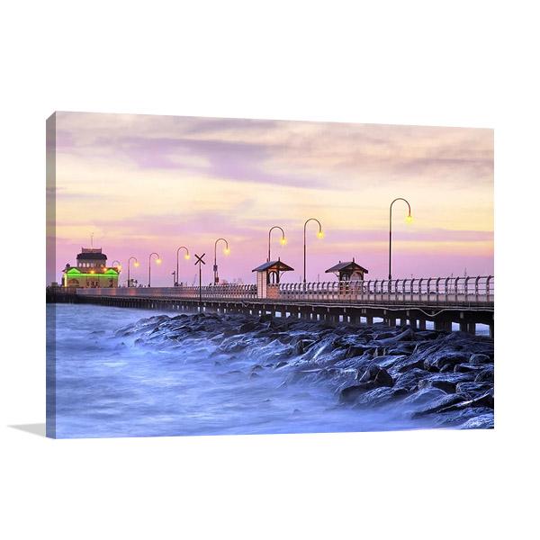 St Kilda Pier Melbourne Print on Canvas