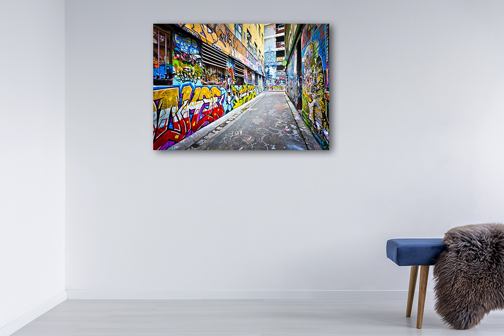 Melbourne Graffiti Print on Canvas