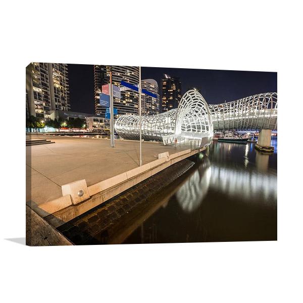 Australia Melbourne Webb Bridge Print