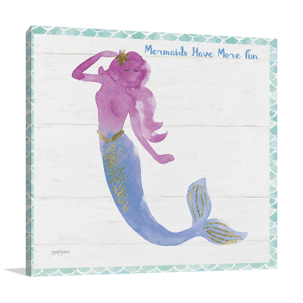 Mermaid Friends IV Fun Wall Art Print