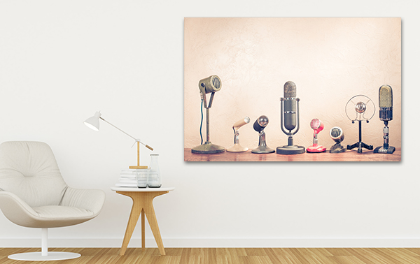 Microphones Art Print on the wall