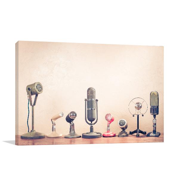 Microphones Canvas Prints