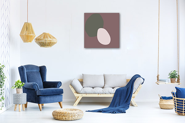 Mid Century Circle Wall Art Print
