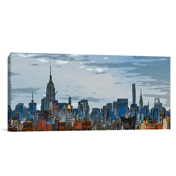 Midtown Manhattan Canvas Prints