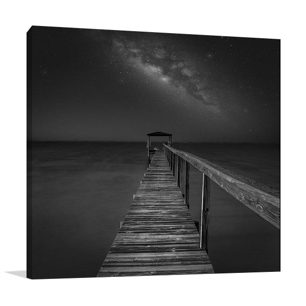 Milky Way Over the Sea Canvas Print
