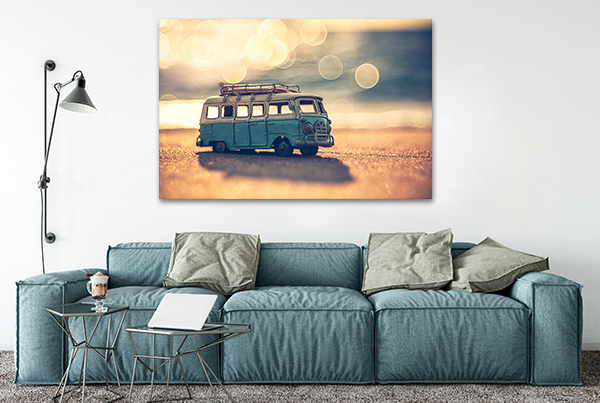 Minivan Wall Art Print on the wall