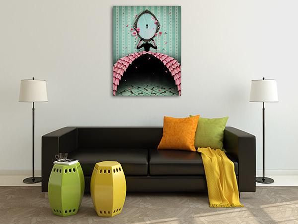 Mirror and Keys Canvas Art Prints