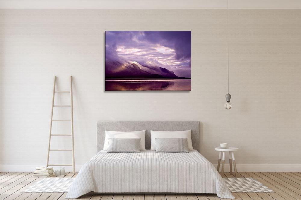 Purple Wall Print on Canvas