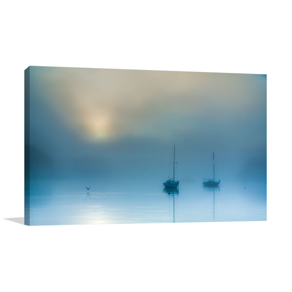 Misty Sunrise Canberra Canvas Art Prints