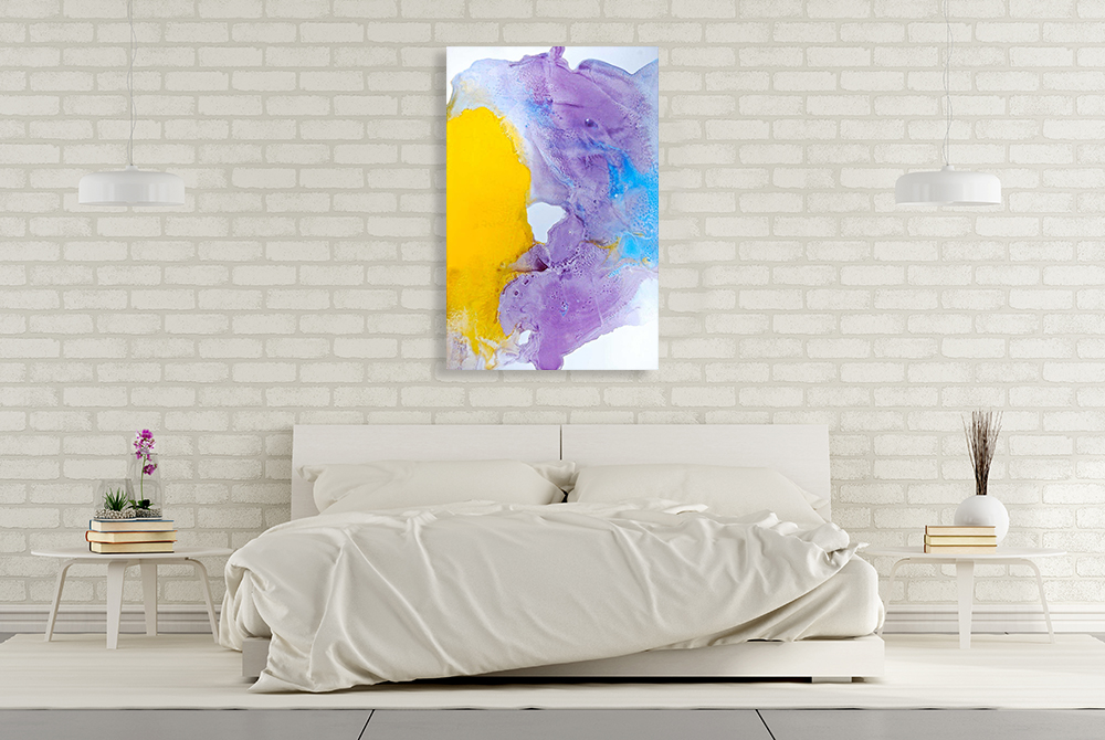 Abstract Surreal Ink Flow Print On Canvas