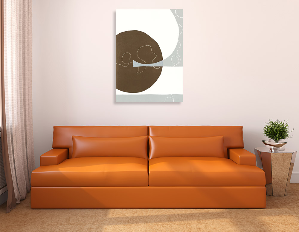 Abstract Lines Shapes Art on Canvas